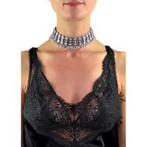 Wild Child Beaded Metal Choker Necklace