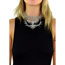 Sevilla Crystal Coin Statement Choker