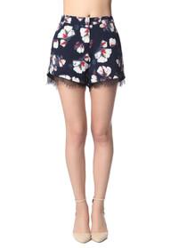 Kelsea Lace Trim Floral Shorts