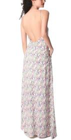 Whitney Paisley Backless Maxi Dress
