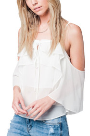 Lauren Cold Shoulder Top