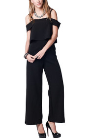 Nina Off Shoulder Wide Leg Jumpsuit