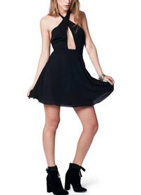 Noelle Key Hole Mini Dress