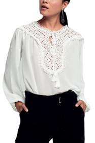 Cherie Lace Peasant Top