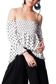 Dori Polka Dot Off Shoulder Top