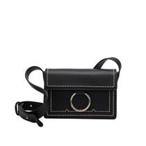 Cherie Vegan Studded Crossbody Bag in Black