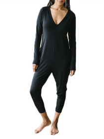 Friday Long Sleeve Romper in Black