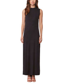Sasha Sleeveless Mock Neck Open Back Maxi Dress