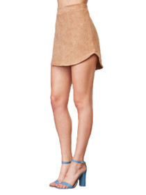 Annette Faux Suede Mini Skirt