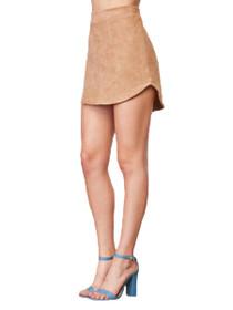 Annette Faux Suede Mini Skirt