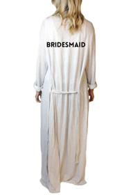 Bridesmaid* Classic Freefall Luxe Maxi Robe in Grey