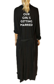 Bridesmaid* Our Girl Freefall Luxe Maxi Robe in Black