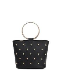 Makenzie Vegan Crossbody Bag in Black