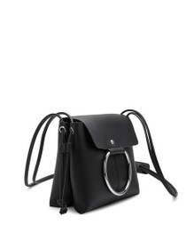 Dillen Crossbody Vegan Circle Bag in Black