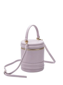 Ellis Vegan Crossbody Cylinder Bag in Lavender