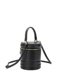 Ellis Vegan Crossbody Cylinder Bag in Black