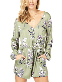Wanderer Long Sleeve Floral Playsuit
