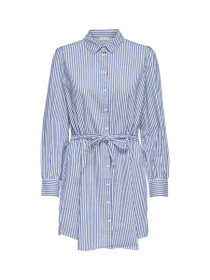 Lucky Long Sleeve Button Down Shirt Dress