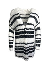 Far Gone Open Knit Stripe Cardigan