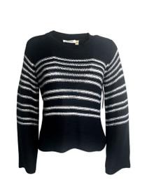 Heartlines Long Sleeve Stripe Knit Sweater