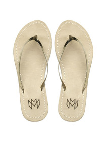 Lux Sandles in Vegan Leather Gilded