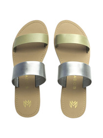 Icon Azalia Vegan Sandals in Platinum