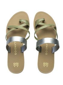 Icon Joni Vegan Sandals in Platinum