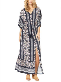 In Bloom Batwing Maxi Dress