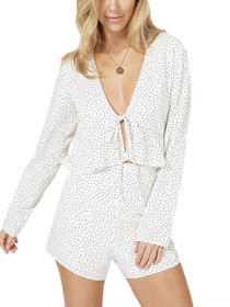 Promise Long Sleeve Spotty Cut-Out Playsuit