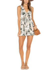 Coastal Roaming Floral Lace-Up Playsuit