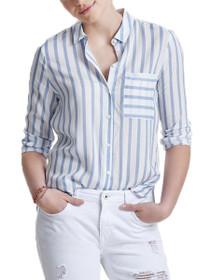 Candy Long Sleeve Button Down Stripe Shirt