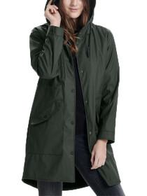 Layla Long Hooded Raincoat
