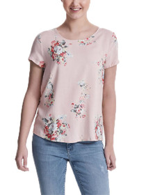 First Short Sleeve Mix Floral Top