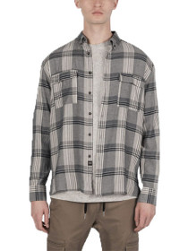 Plaid Long Sleeve Button Down Shirt