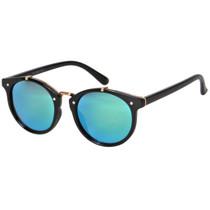 Round Style Mirrored Sunglasses