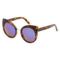 Round Cat Eye Style Sunglasses in Tortoise