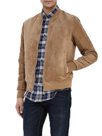 Howard Faux Suede Bomber Jacket