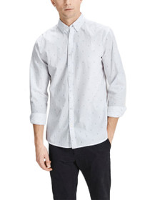 Porter Long Sleeve Plain Button Down Shirt