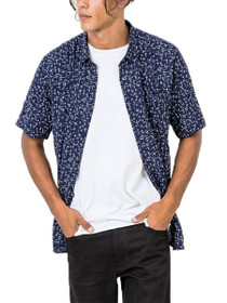 Cross Short Sleeve Button Down Shirt