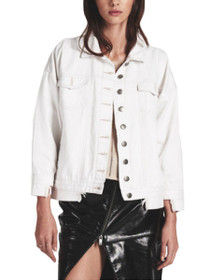Rebellious Distressed Denim Jacket in Cococash