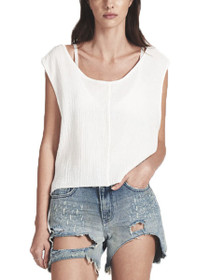 Muslin Upsized Cropped Top