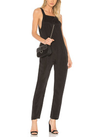 Street Walker Sleeveless Jumpsuit in Matte Black