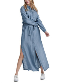 Leni Long Sleeve Ex Long Denim Shirt Dress