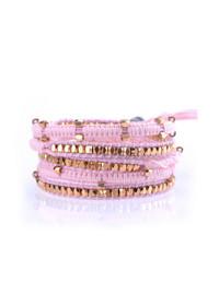 Pink Thread/Rose Gold Wrap