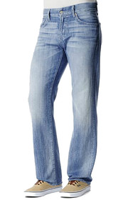 Austyn Relaxed Straight Leg Denim in Ivory Coast