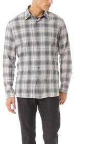 Basic Point Collar Plaid Shirt