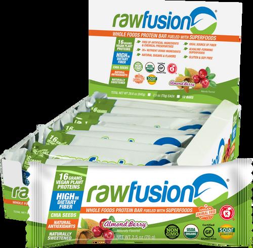 RawFusion Almond  Berry Bar - Box of 12