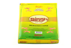 1 Box (12) of Singh Reddish Brown 100% Natural Henna Cone