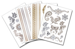 Metallic Flash Tattoo Sheets