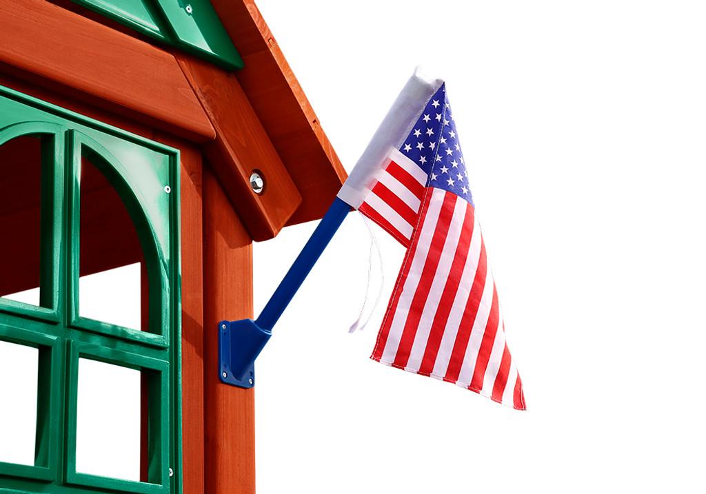 Alternate studio view of American Flag by Gorilla Swing Sets.